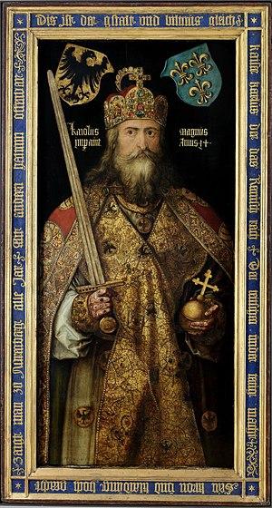 German heraldry - Charlemagne portrait by Albrecht Dürer (1512)