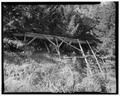 DETAILED PROFILE VIEW OF FLUME, LOOKING SOUTHWEST - Kimmerly Ditch and Flume, Avon, Powell County, MT HAER MONT,39-AVO.V,2-3.tif