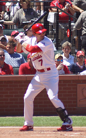 Mark DeRosa - DeRosa batting for the St. Louis Cardinals in 2009