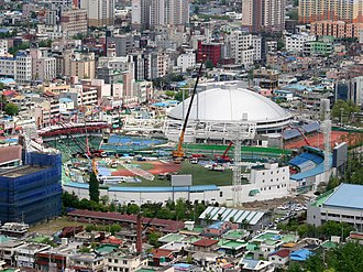 Football at the 1988 Summer Olympics - Image: Daejeon Hanbat Ballpark renovation