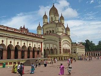 Dakshineswar Kali Temple - Dakhineshwar Temple beside the Hoogly, West Bengal