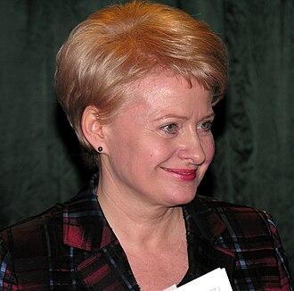 2009 Lithuanian presidential election - Image: Dalia Grybauskaite Mazeikiuose.2009 04 29