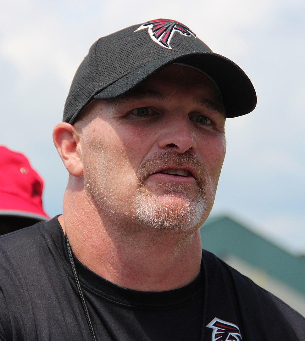 Coach Dan Quinn at Atlanta Falcons training camp
