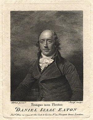 Daniel Isaac Eaton - Daniel Isaac Eaton by William Sharp, after Lemuel Francis Abbott.