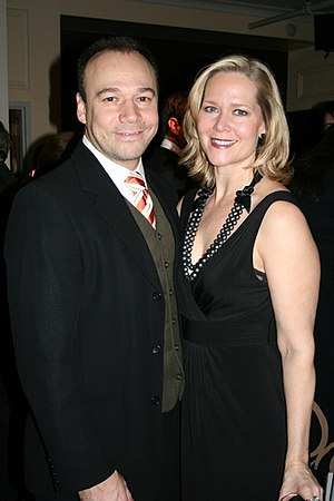 Danny Burstein - Burstein (left) and wife Rebecca Luker at a gala, December 2008