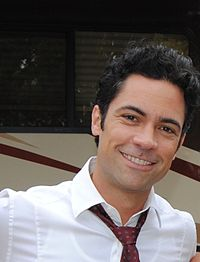 Danny Pino filming SVU July 2011 cropped.jpg