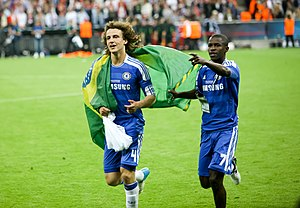 David Luiz - David Luiz (left) with Ramires after the Champions League final in 2012