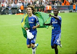 David Luiz - David Luiz (left) with Ramires after the Champions League final in 2012