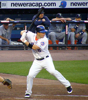 David Wright - David Wright in mid-swing.