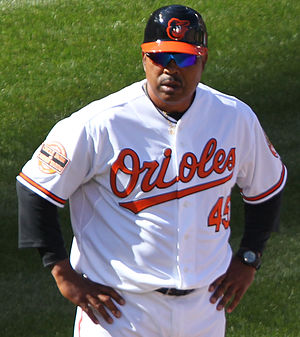 DeMarlo Hale - Hale as the Orioles' third base coach, 2012