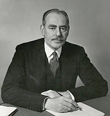 Photograph of Dean Acheson facing the camera