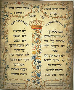 Decalogue parchment by Jekuthiel Sofer 1768.jpg