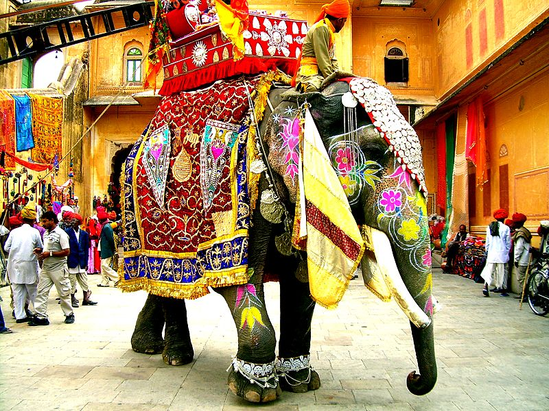 File:Decorated Indian elephant.jpg