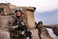Defense.gov News Photo 110221-A-3304L-105 - U.S. Army Sgt. Robert Streeter scans a nearby hilltop during a search of the Qual-e Jala village Parwan province Afghanistan on Feb. 21 2011.jpg