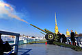 Defense.gov News Photo 110321-D-XH843-001 - Secretary of Defense Robert M. Gates fires the Noon Cannon during a visit to the Peter and Paul Fortress in St. Petersburg Russia on March 21.jpg