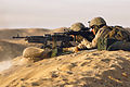 Defense.gov News Photo 120130-M-FW834-054 - Weapons Company Marines man a crew-served medium machine gun during training on Jan. 30 2012. The company provides specialized firepower for.jpg