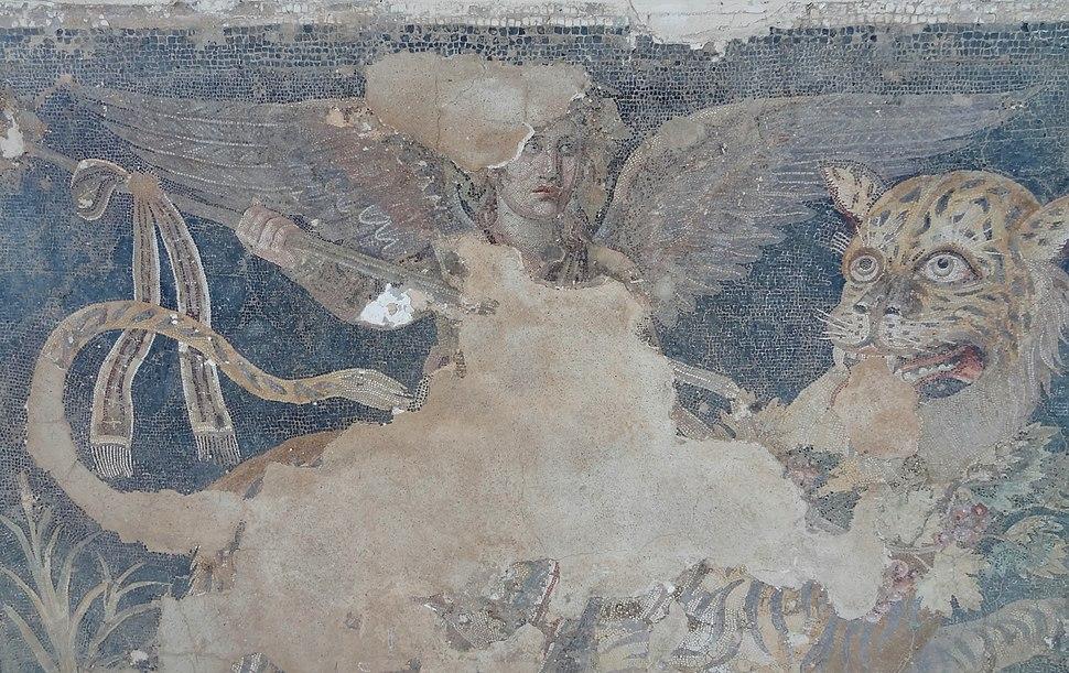 Delos Museum Mosaik Dionysos 06