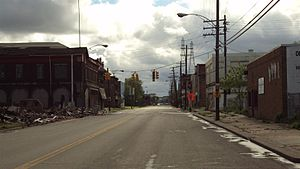 Delray, Detroit - Delray looking south along West Jefferson