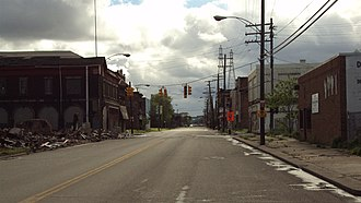 Delray, Detroit - Delray looking south along West Jefferson