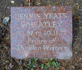 Dennis Wheatley - Wheatley's grave in Brookwood Cemetery