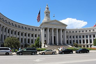 Denver City and County Building Denver City Council building. View from south-east.jpg