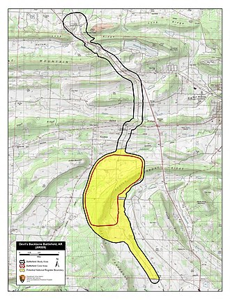Battle of Devil's Backbone - Image: Devil's Backbone Battlefield Arkansas