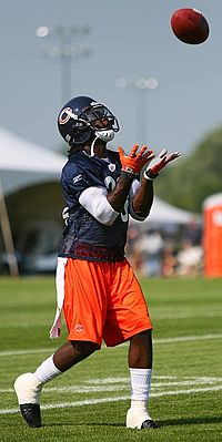 Hester fields a punt during Special Teams practice at the Chicago Bears   2007 Training Camp. 6c0a08558