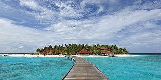 Ari Atoll - Thudufushi, one the many tourist resorts in the atoll