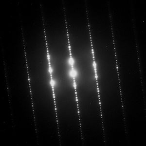 Electron diffraction - 2: Typical electron diffraction pattern obtained in a TEM with a parallel electron beam