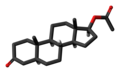 Dihydrotestosterone acetate molecule skeletal.png