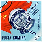 Dimitrie Stiubei - Cosmonauti - I. Gagarin.jpg