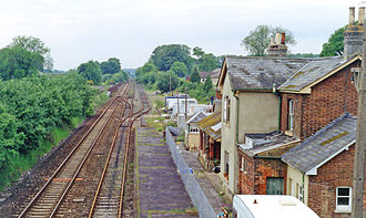 Dinton, Wiltshire - The station buildings in 1994