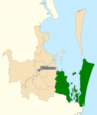 Division of Bowman - Division of Bowman in Queensland, as of the 2016 federal election.