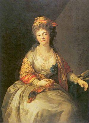 Elizabeth Divov - Portrait of Elizabeth P. Divova; by Anton Graff