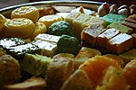 A tray of Indian sweets