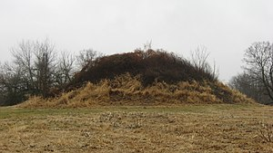 Homer, Ohio - The Dixon Mound, built by the Adena culture, now on the community's western side