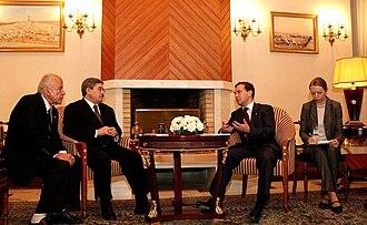 Ahmed Ouyahia - Ahmed Ouyahia and Russian President Dmitry Medvedev