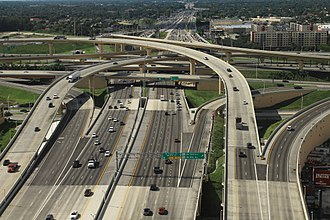 Stack interchange - Highway Interchange between Dolphin Expressway and Palmetto Expressway (Dolphin–Palmetto Interchange) in Greater Miami, Florida, United States