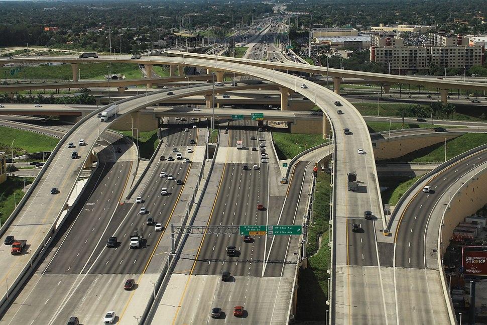 Dolphin and Palmetto Expressway Interchange