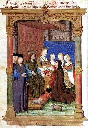 Joanna of Castile - Joanna and her husband with their Spanish subjects