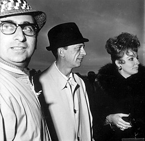 Carole Cook - Attending the premiere of The Incredible Mr. Limpet,  L-R: Unidentified man, Don Knotts and Carole Cook (1964)
