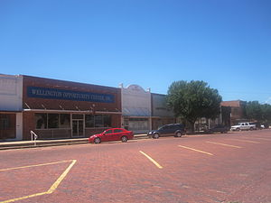 Wellington, Texas - Image: Downtown Wellington, TX IMG 6185