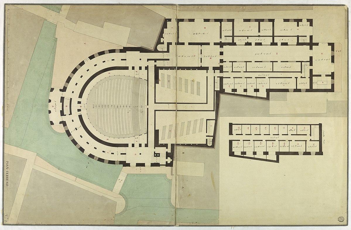 File:Drawing, Competition Design for La Fenice, Venice ...