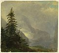 Drawing, The Koenigsee, near Berchtesgeden, Bavaria, 1868 (CH 18199443).jpg