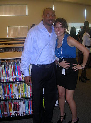 Duane Starks - Duane Starks with a student at Miami Beach Senior High