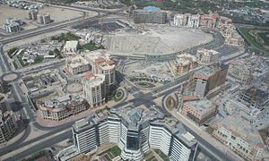 Developments in Dubai - DHCC as seen from the air on 1 May 2007