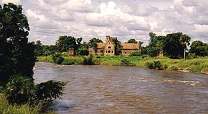 Dungu Castle in 1986, built by a Belgian colonist