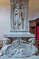 Duomo pulpito interno base Giovanni Evangelista Maso di Bartolomeo e da Pasquino da Montepulciano Prato.jpg