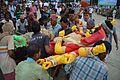Durga Idol Immersion Procession - Baja Kadamtala Ghat - Kolkata 2015-10-22 6585.JPG