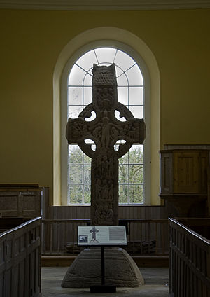 Durrow Abbey - Image: Durrow High Cross